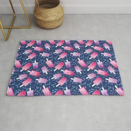 Blueberry Ice Cream Popsicles Rug