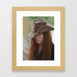anne Framed Art Print