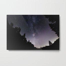 Purple Milkyway Metal Print