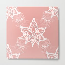 White Lotus Flower Print Metal Print
