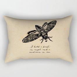 Dylan Thomas - Madman Rectangular Pillow