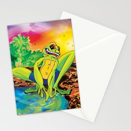 Morgan the Frog Stationery Cards
