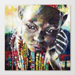 Reverie - Ethnic African portrait Canvas Print