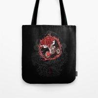 daredevil Tote Bags featuring Daredevil by Timo Ambo