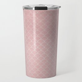 Grunge textured rose quartz small scallop pattern Travel Mug