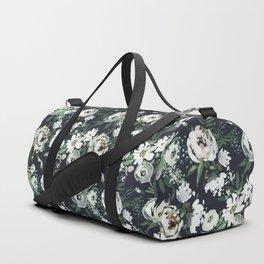 Rustic Floral Print Duffle Bag