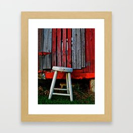 Milk Stool Framed Art Print