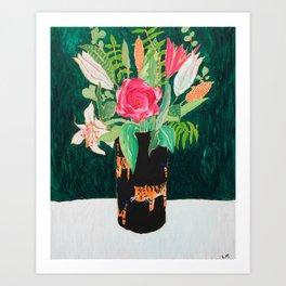 Tiger Vase Art Print