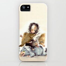Niffler babies iPhone Case