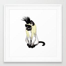 Cat Hat Framed Art Print