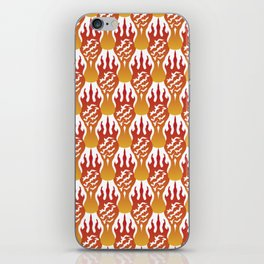 SCORCH pattern [WHITE] iPhone Skin