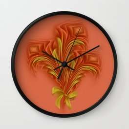 Color Meditation - Orange  Wall Clock