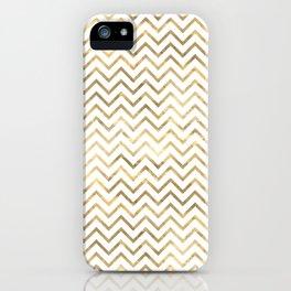 Gold Zig Zag Pattern iPhone Case