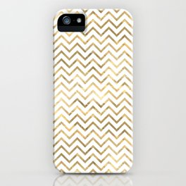 Gold Zig Zag Pattern iPhone Case