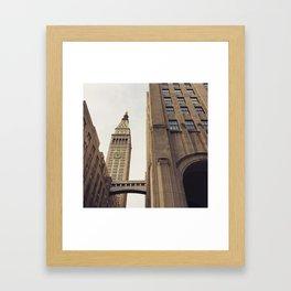 Clock Tower New York Framed Art Print