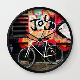Joy & bike Wall Clock