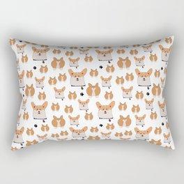 Happy corgi pattern Rectangular Pillow