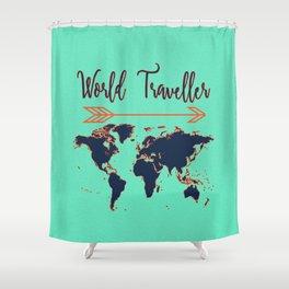 World Traveller Shower Curtain
