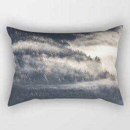 A Mist Through The Trees Rectangular Pillow