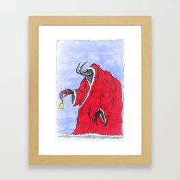 Merry Krampus you filthy animals Framed Art Print