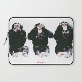 The three wise monkeys Laptop Sleeve