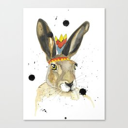 Miss Hare Canvas Print
