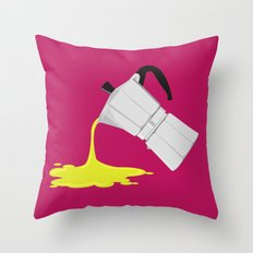 Alien Moka Throw Pillow