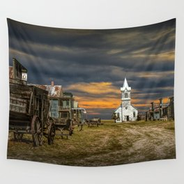 Western 1880 Town Wall Tapestry
