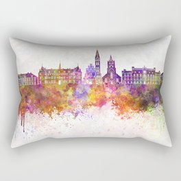 Odense skyline in watercolor background Rectangular Pillow