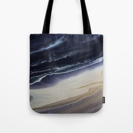Marble in Blue and Ivories Tote Bag