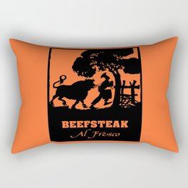 Beefsteak al fresco, silhouette art Rectangular Pillow