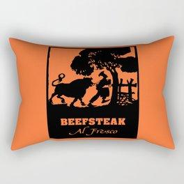 Beefsteak al fresco, silhouette art Rectangular Pillow