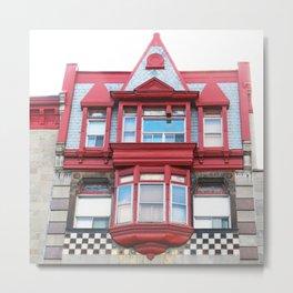 Checkerboard House Metal Print