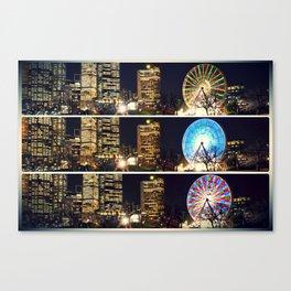 Melbourne Ferris Wheel Triptych  Canvas Print