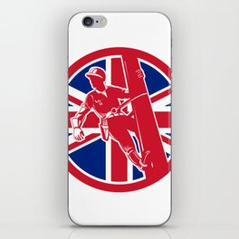 British Linesman Union Jack Flag Icon iPhone Skin