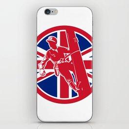 British Linesman Union Jack Flag Icon iPhone Skin