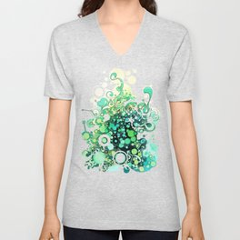 Visible Connections - Watercolor and Pen Art Unisex V-Neck