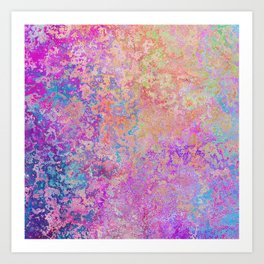 Chipping Rainbow Art Print