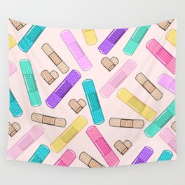 Retro Bandages Wall Tapestry