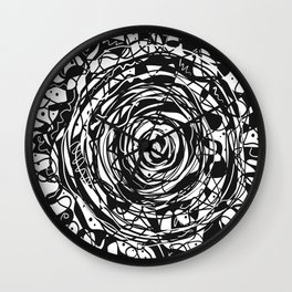 Black and White Abstraction #3 Wall Clock