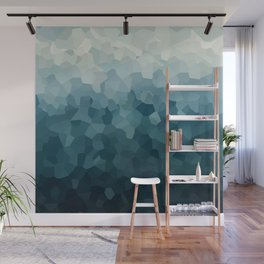 Ice Blue Mountains Moon Love Wall Mural