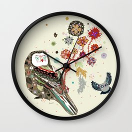 Owl wow Wall Clock