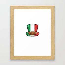 St Patricks Day Irish Italian Funny Paddy Gift Framed Art Print