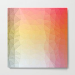 abstract pattern polygon Metal Print