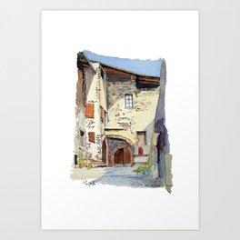Ruelle Chatillon en Diois Art Print