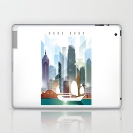 The city skyline of Hong Kong Laptop & iPad Skin