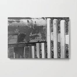 white picket Metal Print