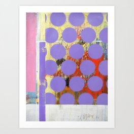 Abstract Mixed Media Compositon V.18 Art Print