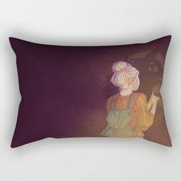 Shadows Lady Rectangular Pillow