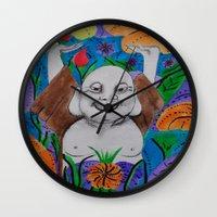 buddah Wall Clocks featuring WEDDING BUDDAH-2 by Manuel Estrela 113 Art Miami